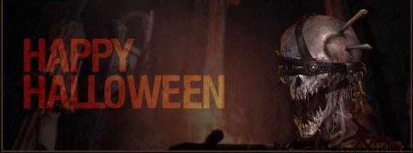 crâne d'halloween - Photo de couverture journal Facebook