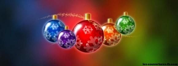 Boules de Noël colorées - Photo de couverture journal Facebook