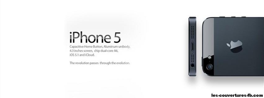 Nouveau Iphone 5 - Photo de couverture journal Facebook