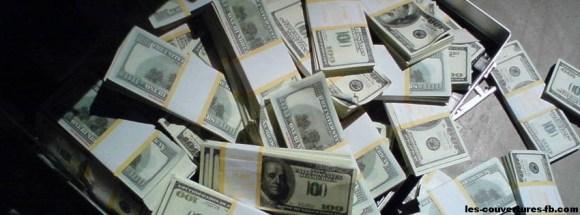 Dollars - Photo de couverture journal Facebook