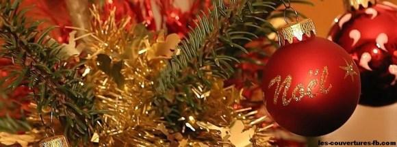 Boule de Noël satinée-photo de couverture journal facebook