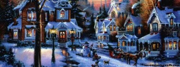 Noël sous la neige-photo de couverture journal facebook