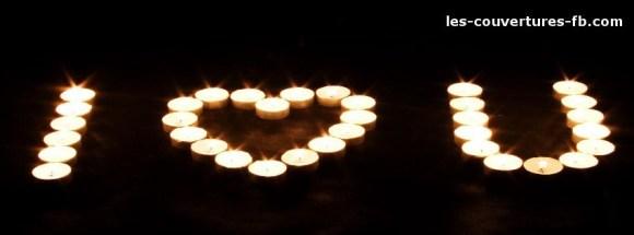 bougies de coeur -Photo de couverture journal Facebook