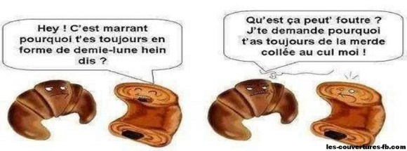 croissant vs pain au chocolat-Photo de couverture journal Facebook