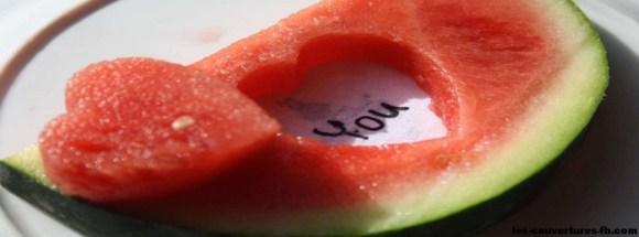 coeur de pastèque -Photo de couverture journal Facebook