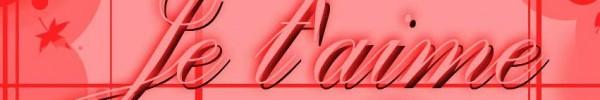 je t'aime sur fond rouge - photo de couverture journal facebook
