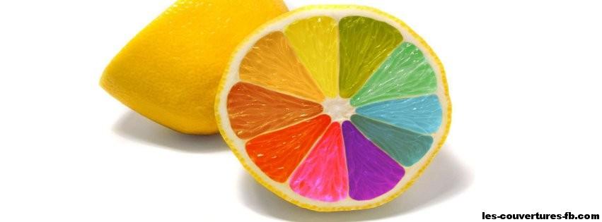 Citron avec pulpe multicolore -Photo de couverture journal Facebook
