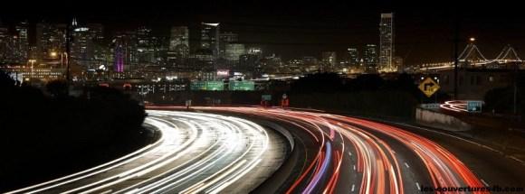 San Fransisco de nuit -Photo de couverture journal Facebook
