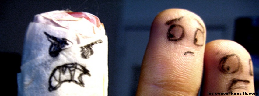 doigts Horror show-photo de couverture journal facebook