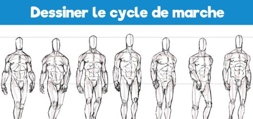 Comment dessiner le cycle de marche-