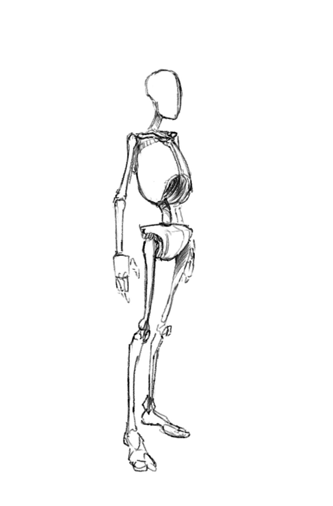 Comment dessiner un personnage les dessins - Dessiner un squelette ...