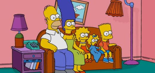 Photo de famille les Simpsons