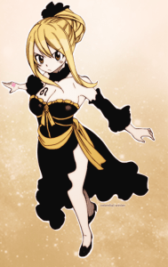 Lucy Heartfilia (Fairy Tail), Leo Sky Dress manches séparées