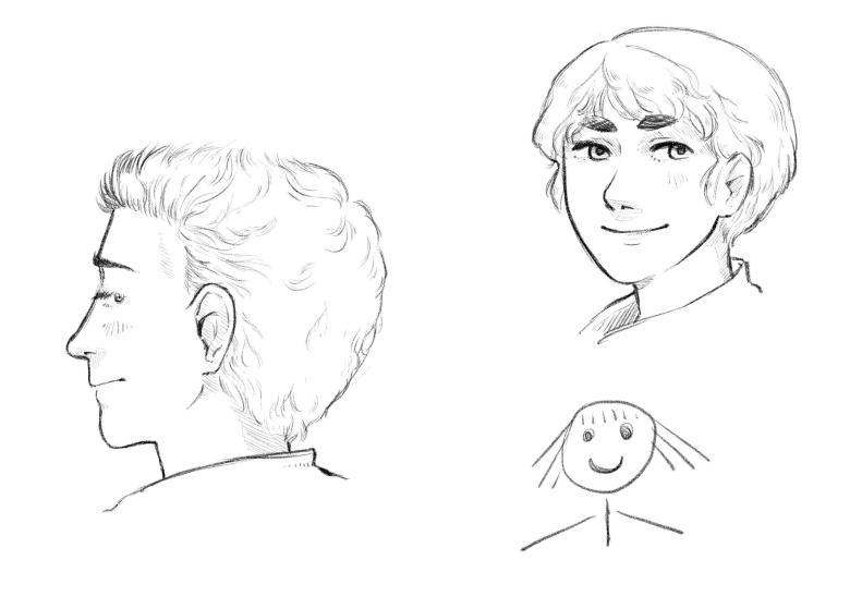 Dessiner des cheveux courts 1