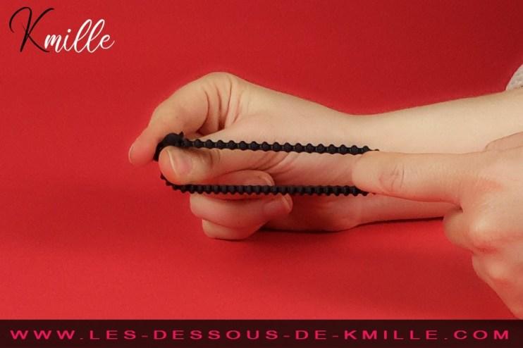 Test d'un anneau pénien réglable, de la marque Dorcel.