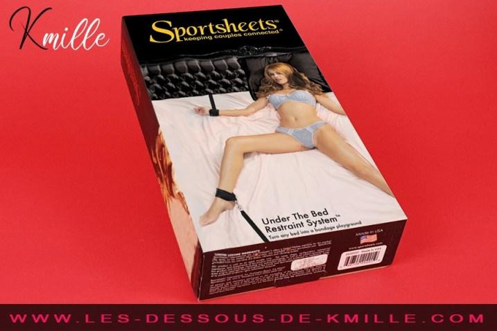 Test du kit de contrainte Under the Bed Restraint System, de la marque Sportsheets.
