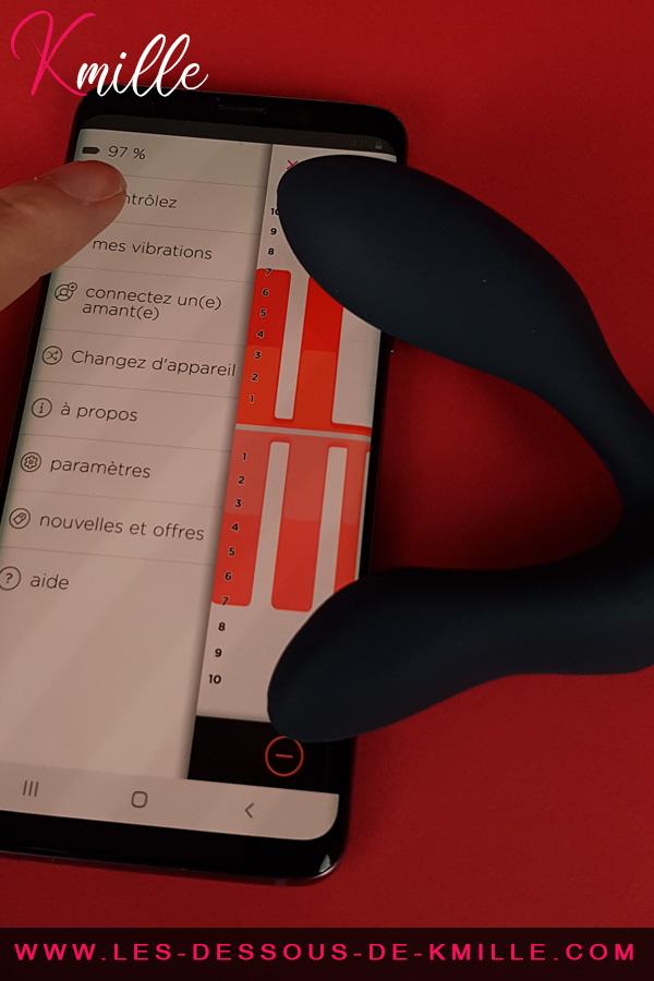 Test du masseur de prostate télécommandé et connecté de We-Vibe.