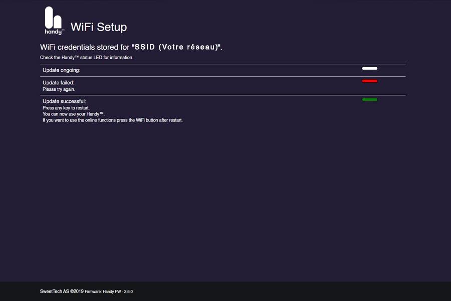 Interface Web Handy Setup