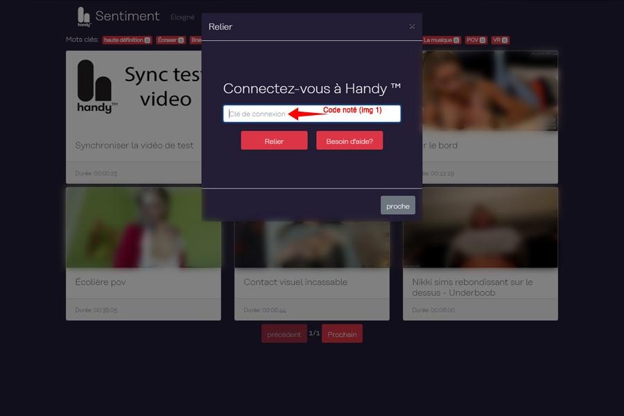 Interface Web Handy Feeling