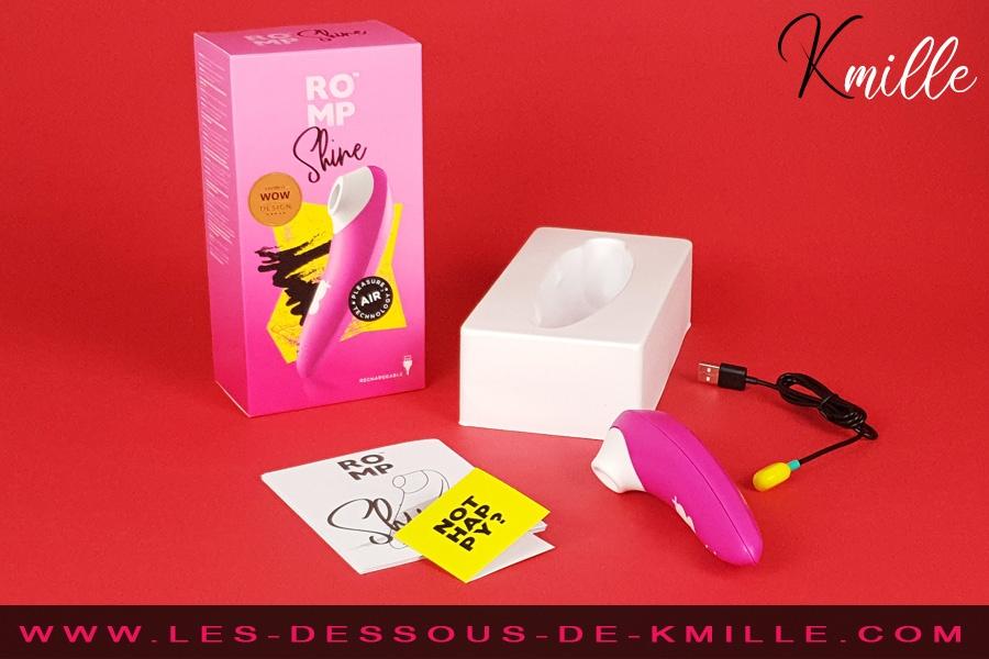Kmille teste le stimulateur de clitoris sans contact, ROMP Shine.