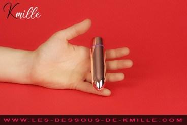 Kmille teste le vibromasseur bullet RO-120 mm, de Rocks-Off.