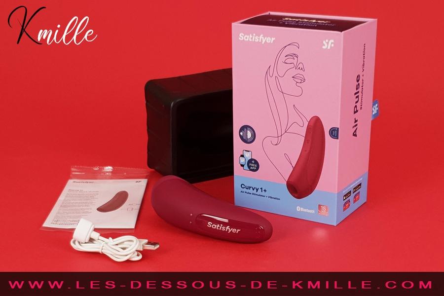 Stimulateur de clitoris connecté Satisfyer Curvy 1+