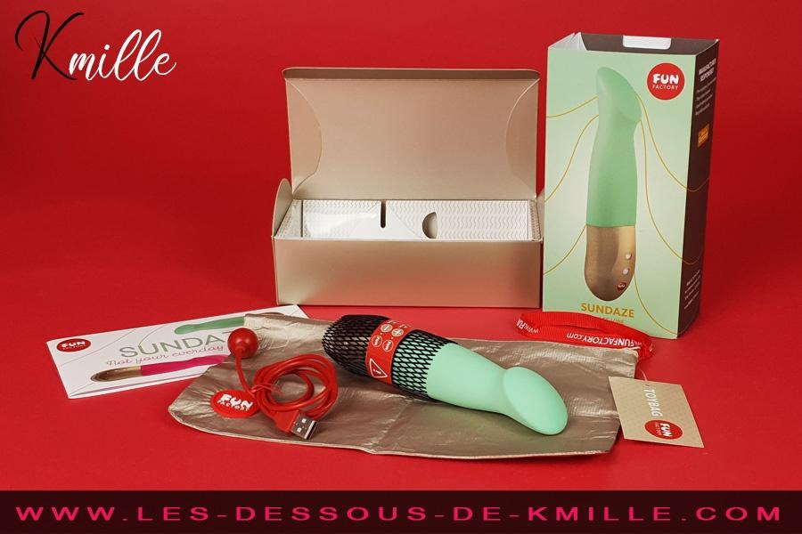 Kmille teste le vibromasseur pulsateur Sundaze, de la marque Fun Factory.