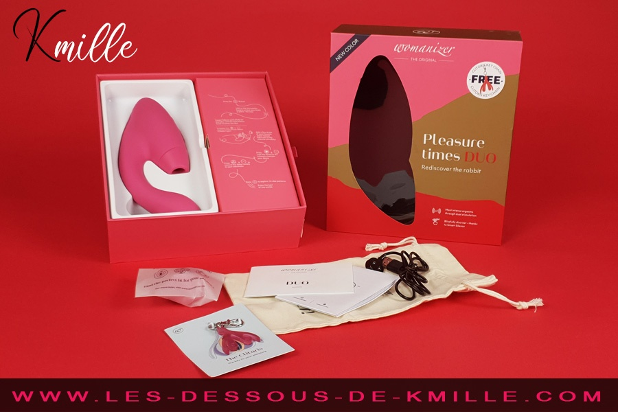 Kmille teste le double stimulateur Womanizer Duo édition Girly.