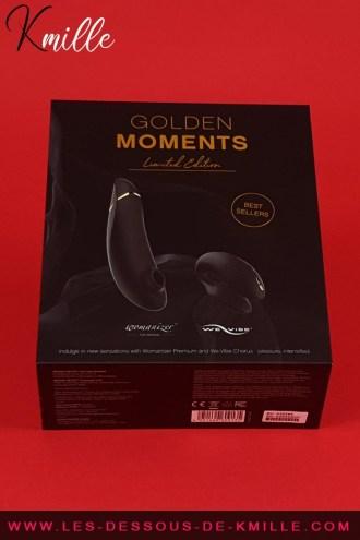 Kmille présente le coffret Golden the Moments We-Vibe - Womanizer, de Wow-Tech.