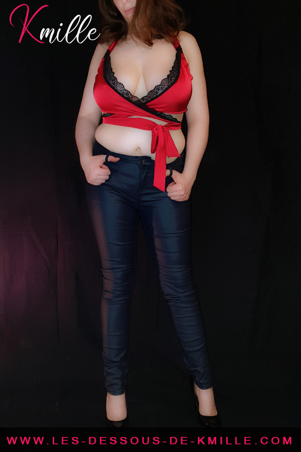 Kmille présente l'ensemble 2 pièces rouge Sensuelia, de la marque Obsessive.