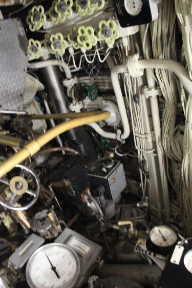 Des centaines de valves réparties dans tout le navire