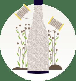 Bouteille en fibre végétales