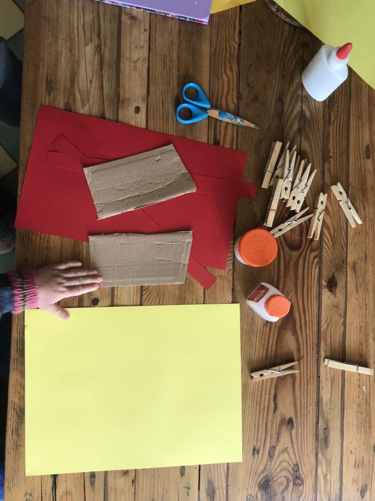 matériel bougies, activités manuelles faciles en papier