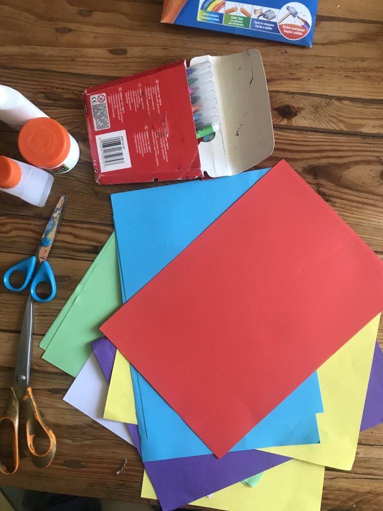 matériel paysage hiver, activités manuelles faciles papier