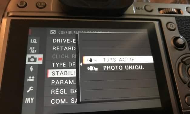 OIS Stabilisation Fujifilm : Mode 1 et mode 2