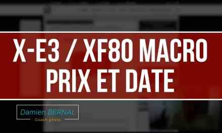 Fujifilm X-E3 / XF80 MACRO : Prix & Date de sortie