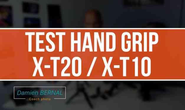 Test hand grip Fuji X-T20 / X-T10
