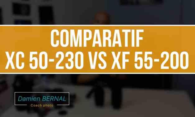 comparatif Fujifilm XC 50-230 4.5-6.7 vs XF 55-200 3.5-4.8