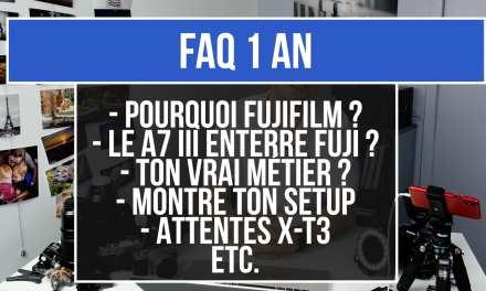 FAQ – 1 An !
