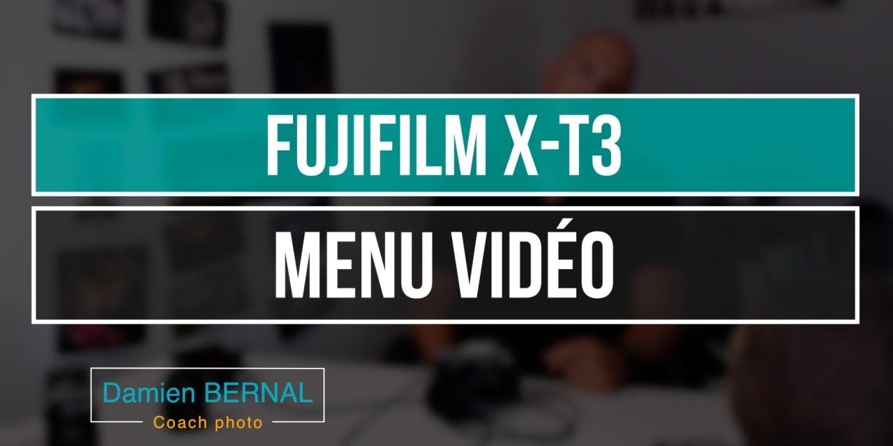 Fujifilm X-T3 : Menu vidéo