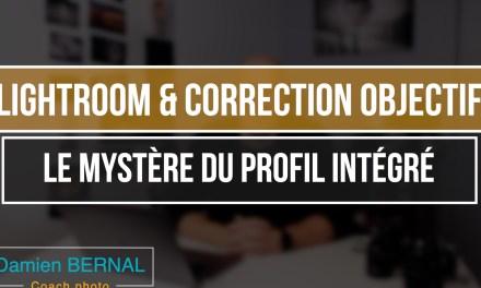 Lightroom : Correction objectif Fujifilm (Profil intégré)