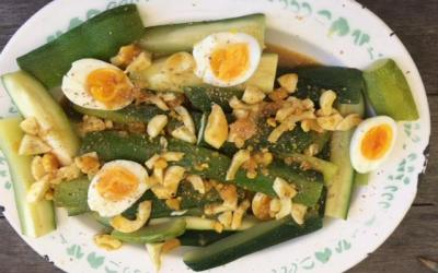 les courgettes en salade