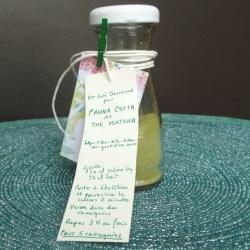 étiquette kit panna cotta thé matcha
