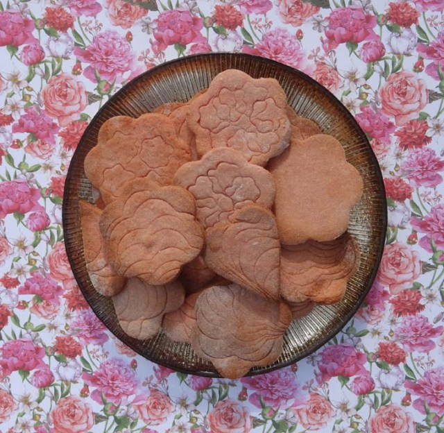 croquants aux biscuits roses de Reims