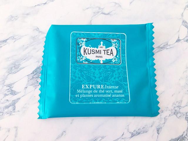 クスミティー,エクスピュア インテンス,ブルーグリーンのパッケージ,KUSMI TEA,Expure Intense,
