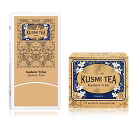 クスミティー,カシミールチャイ,ティーバッグ 2.2g x 25個入,KUSMI TEA,KASHMIR TCHAÏ,