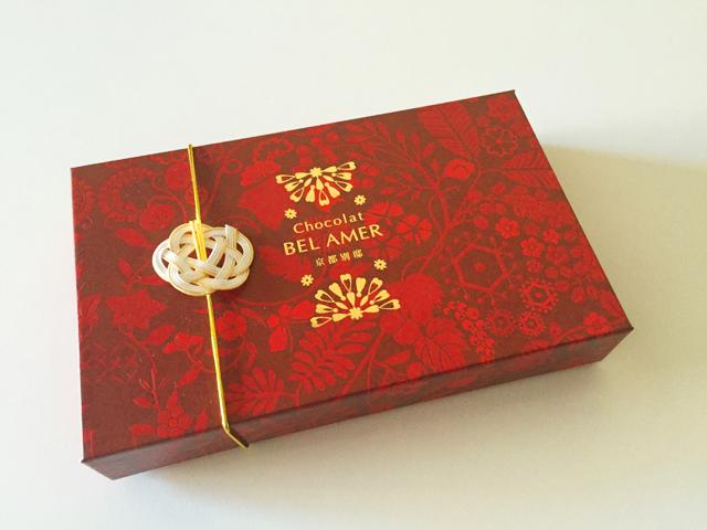 ショコラベルアメール京都別邸,瑞穂のしずく,紙袋とチョコレートの箱