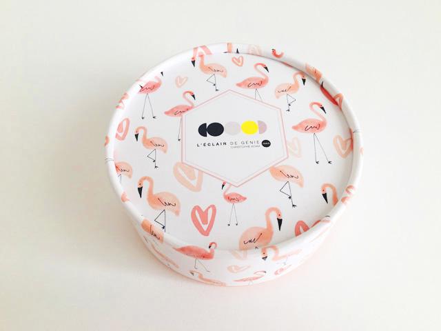 レクレール・ドゥ・ジェニ,ショコラ ミニョン,4個入りBOX上からの画像,2019,バレンタイン