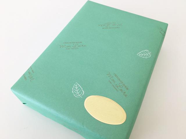 モンロワール,ペパーグリーンの紙で包装されたリーフメモリーギフトボックス,