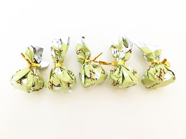 リーフメモリー,5つのグリーンの巾着,葉っぱのチョコ,モンロワール,